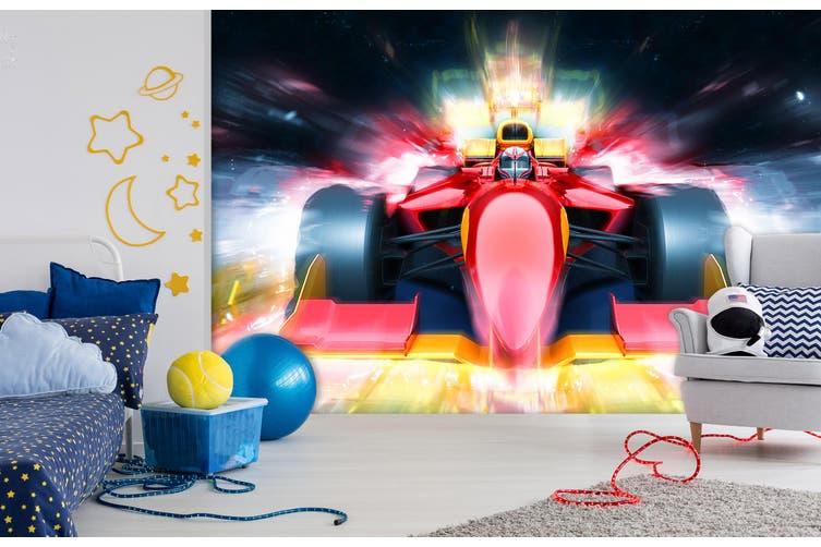 3D Red Racing Car 317 Vehicle Wall Murals Wallpaper Murals Self-adhesive Vinyl, XL 208cm x 146cm (WxH)(82''x58'')
