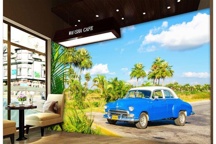 3D Coconut Tree Car 315 Vehicle Wall Murals Wallpaper Murals Woven paper (need glue), XL 208cm x 146cm (WxH)(82''x58'')