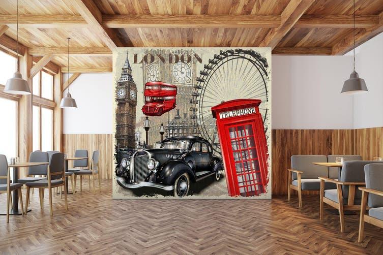 3D Ferris Wheel Car 314 Vehicle Wall Murals Wallpaper Murals Woven paper (need glue), XXL 312cm x 219cm (WxH)(123''x87'')