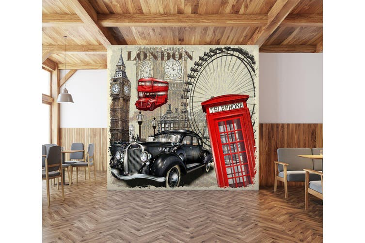 3D Ferris Wheel Car 314 Vehicle Wall Murals Wallpaper Murals Woven paper (need glue), XXXXL 520cm x 290cm (WxH)(205''x114'')