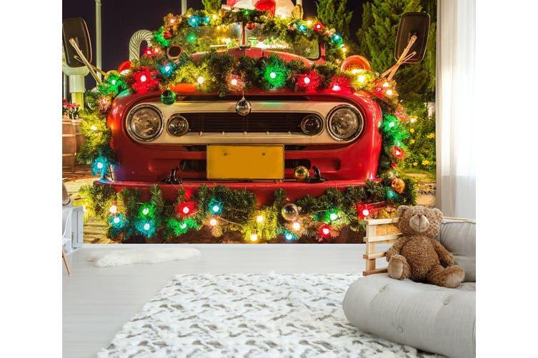3D Christmas Car 308 Vehicle Wall Murals Wallpaper Murals Woven paper (need glue), XXL 312cm x 219cm (WxH)(123''x87'')