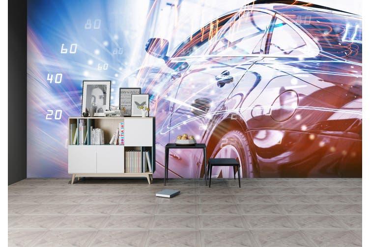 3D Watch Car 306 Vehicle Wall Murals Wallpaper Murals Woven paper (need glue), XL 208cm x 146cm (WxH)(82''x58'')