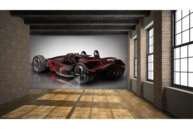 3D Red Sports Car 304 Vehicle Wall Murals Wallpaper Murals Woven paper (need glue), XL 208cm x 146cm (WxH)(82''x58'')