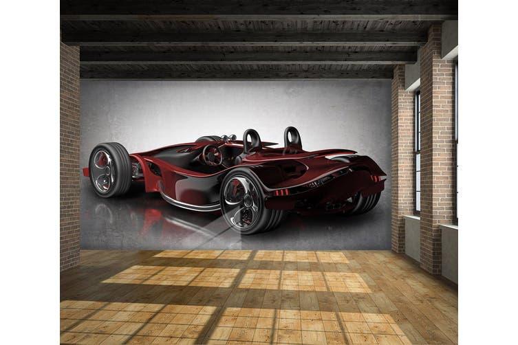 3D Red Sports Car 304 Vehicle Wall Murals Wallpaper Murals Self-adhesive Vinyl, XXXXL 520cm x 290cm (WxH)(205''x114'')
