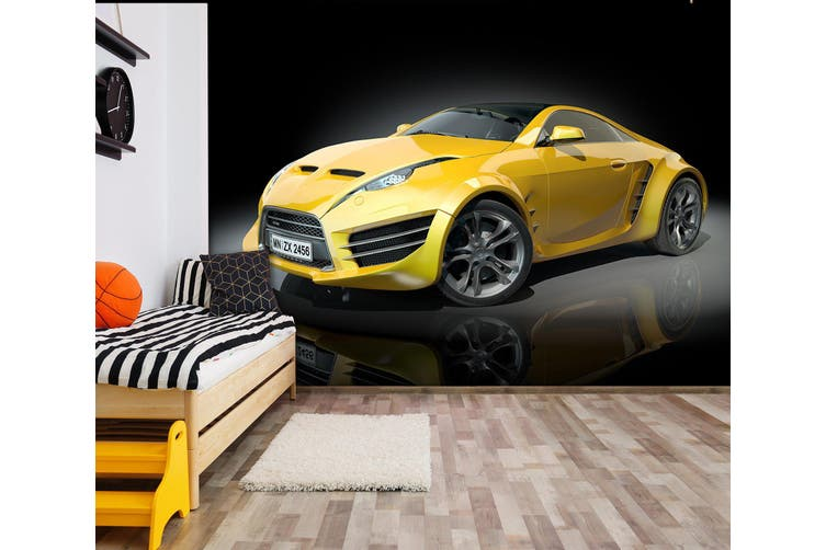 3D Cool Sports Car 303 Vehicle Wall Murals Wallpaper Murals Self-adhesive Vinyl, XL 208cm x 146cm (WxH)(82''x58'')