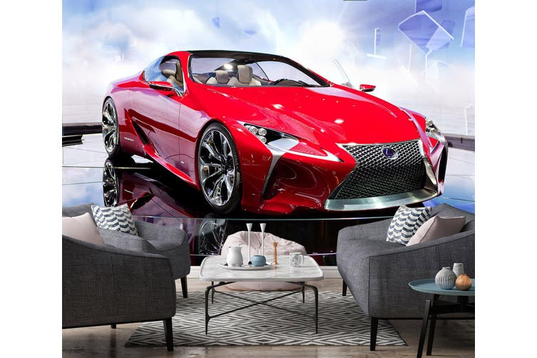 3D Lexus Sports Car 302 Vehicle Wall Murals Wallpaper Murals Self-adhesive Vinyl, XXL 312cm x 219cm (WxH)(123''x87'')