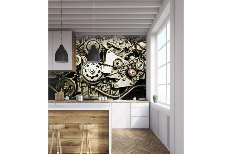 3D Engine Gear 300 Vehicle Wall Murals Wallpaper Murals Self-adhesive Vinyl, XL 208cm x 146cm (WxH)(82''x58'')