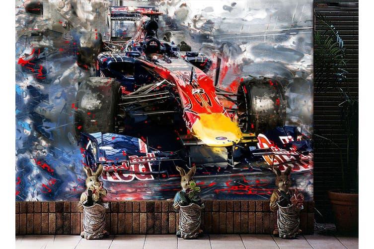 3D Red Bull Racing 296 Vehicle Wall Murals Wallpaper Murals Self-adhesive Vinyl, XXXL 416cm x 254cm (WxH)(164''x100'')