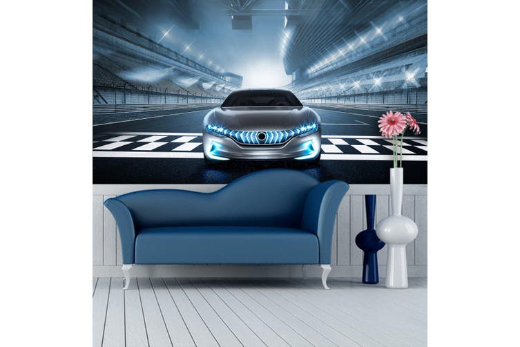 3D Stadium Sports Car 285 Vehicle Wall Murals Wallpaper Murals Self-adhesive Vinyl, XXL 312cm x 219cm (WxH)(123''x87'')
