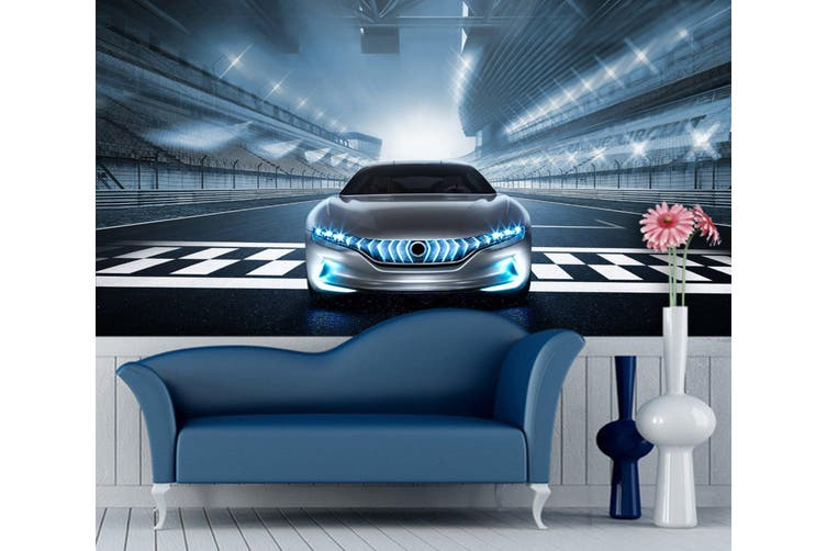 3D Stadium Sports Car 285 Vehicle Wall Murals Wallpaper Murals Self-adhesive Vinyl, XXXL 416cm x 254cm (WxH)(164''x100'')