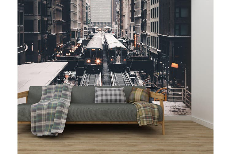 3D City Subway 282 Vehicle Wall Murals Wallpaper Murals Woven paper (need glue), XXXXL 520cm x 290cm (WxH)(205''x114'')