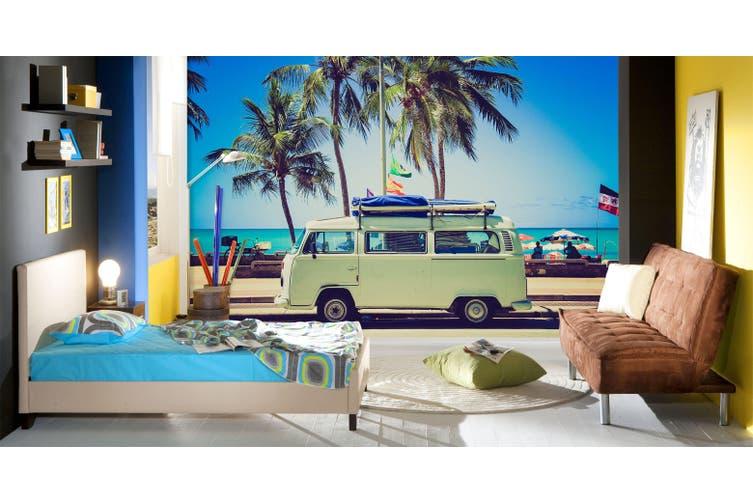 3D Coconut Tree Car 279 Vehicle Wall Murals Wallpaper Murals Woven paper (need glue), XL 208cm x 146cm (WxH)(82''x58'')