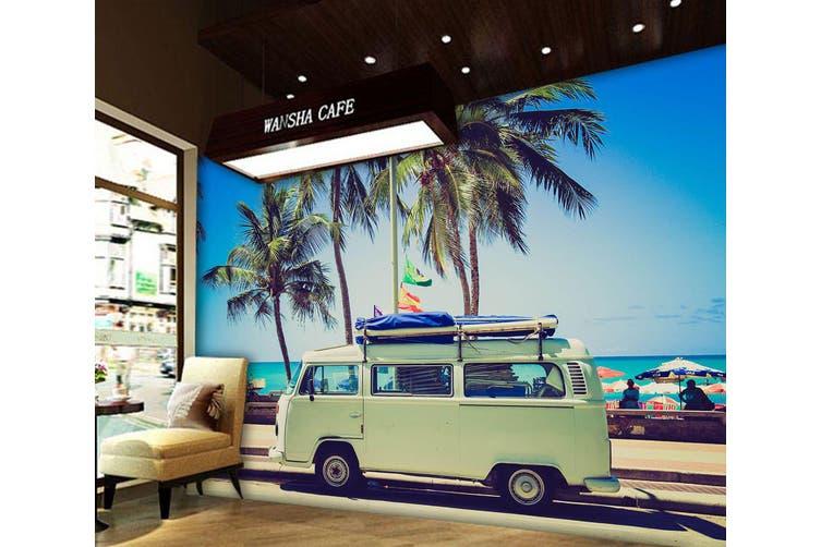 3D Coconut Tree Car 279 Vehicle Wall Murals Wallpaper Murals Self-adhesive Vinyl, XXXL 416cm x 254cm (WxH)(164''x100'')
