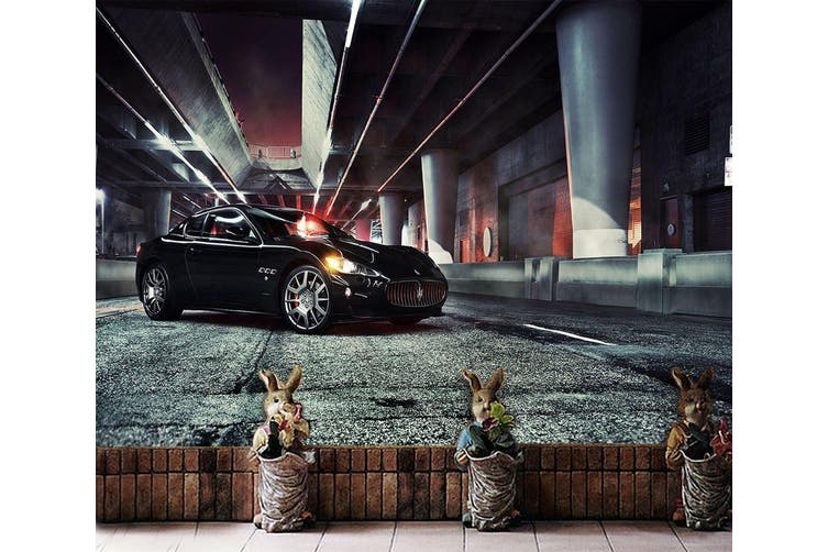 3D Black Maserati 277 Vehicle Wall Murals Wallpaper Murals Self-adhesive Vinyl, XXXXL 520cm x 290cm (WxH)(205''x114'')