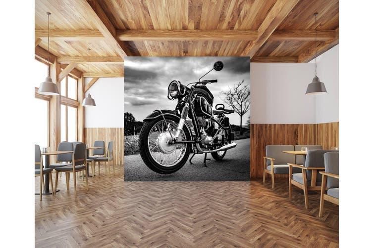 3D Black Motorcycle 275 Vehicle Wall Murals Wallpaper Murals Self-adhesive Vinyl, XXL 312cm x 219cm (WxH)(123''x87'')