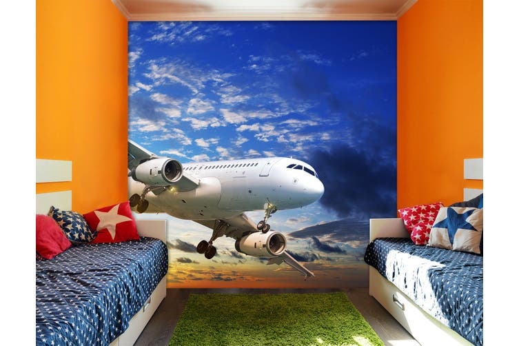 3D Sunset Aircraft 270 Vehicle Wall Murals Wallpaper Murals Self-adhesive Vinyl, XXXL 416cm x 254cm (WxH)(164''x100'')