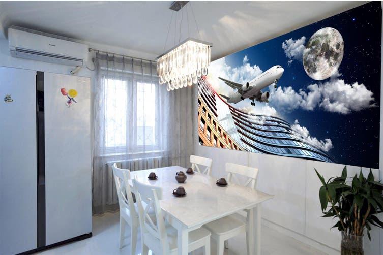 3D Moon Aircraft 269 Vehicle Wall Murals Wallpaper Murals Woven paper (need glue), XXXXL 520cm x 290cm (WxH)(205''x114'')
