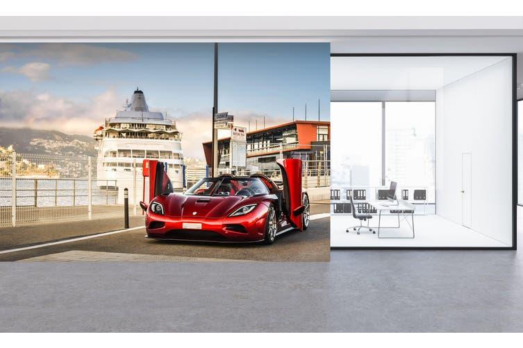 3D Yacht Sports Car 266 Vehicle Wall Murals Wallpaper Murals Self-adhesive Vinyl, XXXL 416cm x 254cm (WxH)(164''x100'')