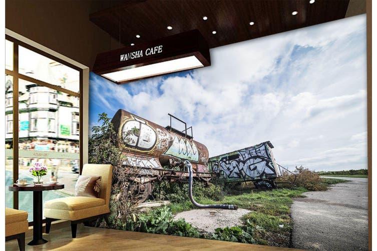 3D Abandoned Graffiti 263 Vehicle Wall Murals Wallpaper Murals Woven paper (need glue), XXXL 416cm x 254cm (WxH)(164''x100'')