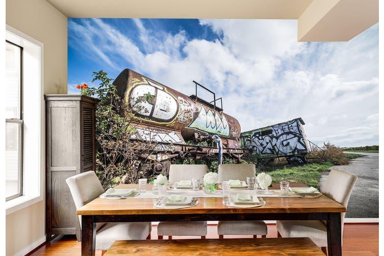 3D Abandoned Graffiti 263 Vehicle Wall Murals Wallpaper Murals Woven paper (need glue), XXXXL 520cm x 290cm (WxH)(205''x114'')