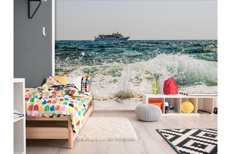 3D Wave Cruise 262 Vehicle Wall Murals Wallpaper Murals Self-adhesive Vinyl, XXL 312cm x 219cm (WxH)(123''x87'')