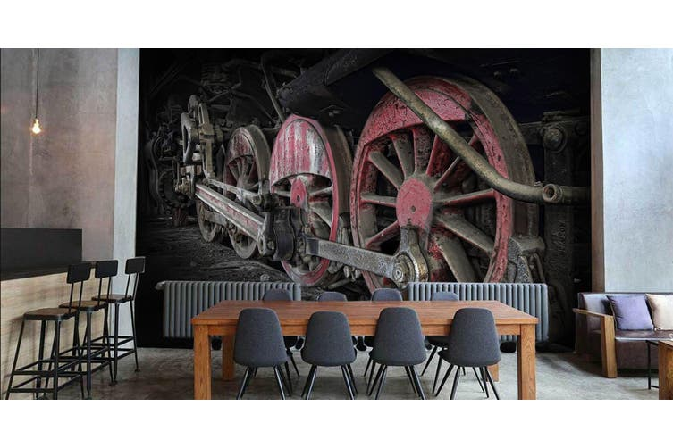 3D Dilapidated Train 257 Vehicle Wall Murals Wallpaper Murals Woven paper (need glue), XL 208cm x 146cm (WxH)(82''x58'')