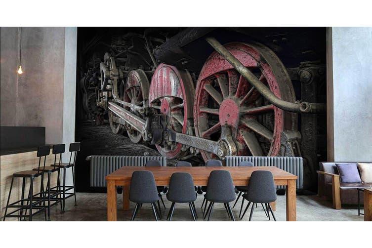 3D Dilapidated Train 257 Vehicle Wall Murals Wallpaper Murals Woven paper (need glue), XXXL 416cm x 254cm (WxH)(164''x100'')