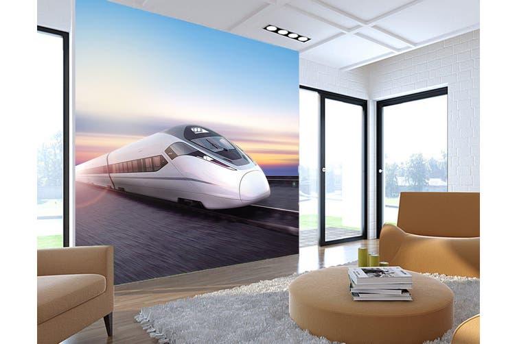 3D Blue Sky Locomotive 255 Vehicle Wall Murals Wallpaper Murals Self-adhesive Vinyl, XXXL 416cm x 254cm (WxH)(164''x100'')