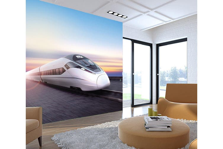 3D Blue Sky Locomotive 255 Vehicle Wall Murals Wallpaper Murals Self-adhesive Vinyl, XXXXL 520cm x 290cm (WxH)(205''x114'')