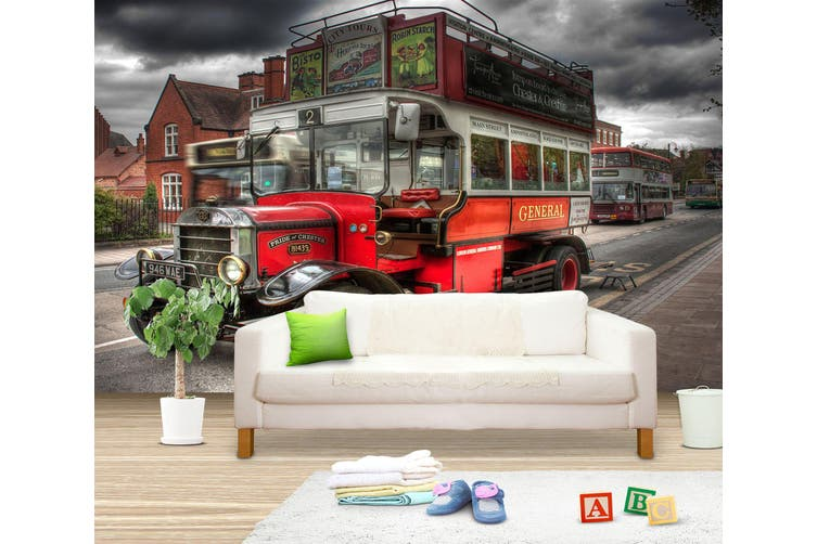 3D Sightseeing Car 251 Vehicle Wall Murals Wallpaper Murals Self-adhesive Vinyl, XXL 312cm x 219cm (WxH)(123''x87'')