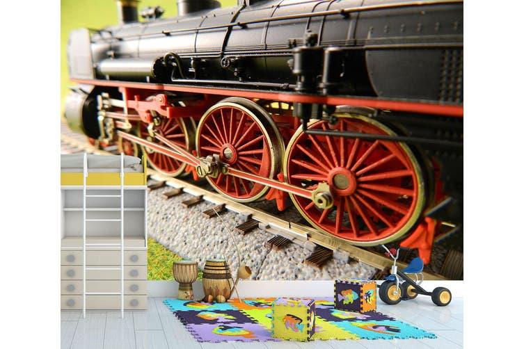 3D Red Train Wheel 248 Vehicle Wall Murals Wallpaper Murals Woven paper (need glue), XXXL 416cm x 254cm (WxH)(164''x100'')