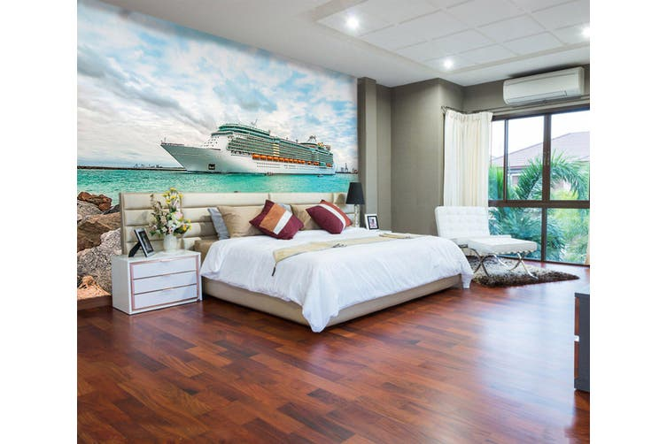 3D Cruise Ship Sea 243 Vehicle Wall Murals Wallpaper Murals Woven paper (need glue), XXXXL 520cm x 290cm (WxH)(205''x114'')