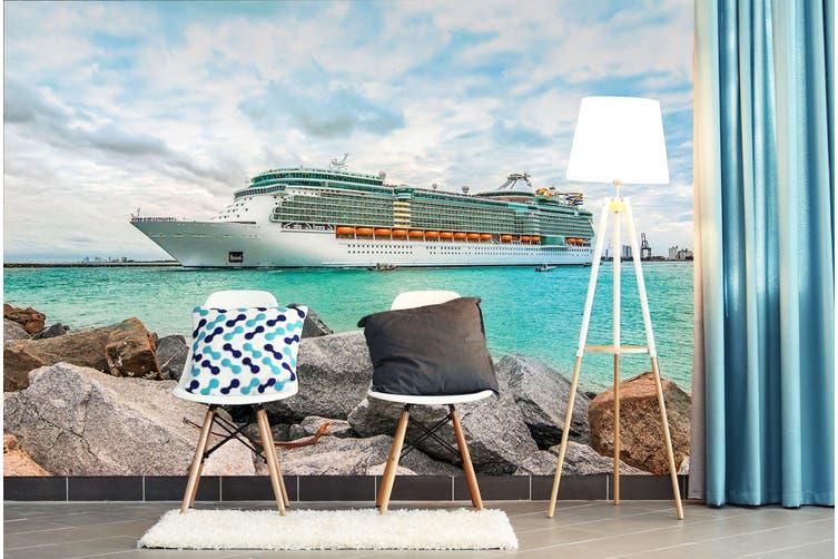 3D Cruise Ship Sea 243 Vehicle Wall Murals Wallpaper Murals Self-adhesive Vinyl, XXXL 416cm x 254cm (WxH)(164''x100'')