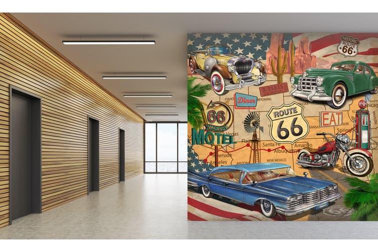 3D Motorcycle Car Map 241 Vehicle Wall Murals Wallpaper Murals Self-adhesive Vinyl, XXL 312cm x 219cm (WxH)(123''x87'')