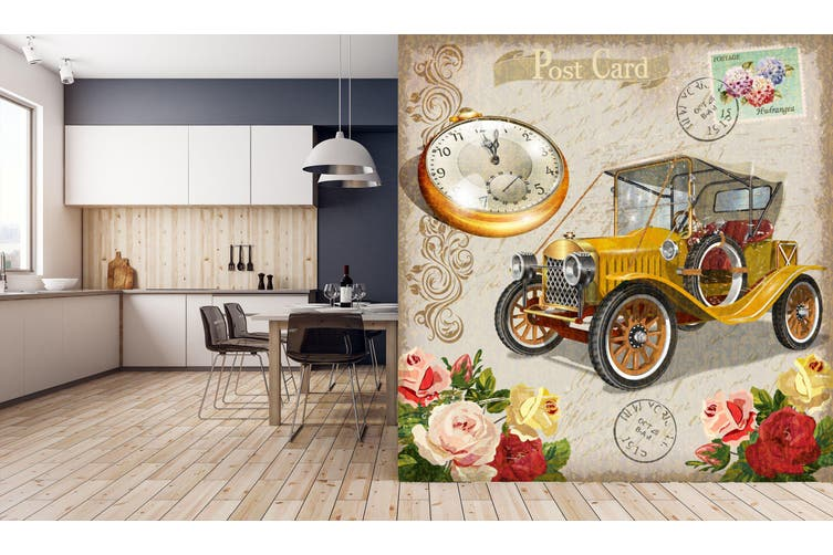 3D Pocket Watch Flower 240 Vehicle Wall Murals Wallpaper Murals Woven paper (need glue), XXL 312cm x 219cm (WxH)(123''x87'')