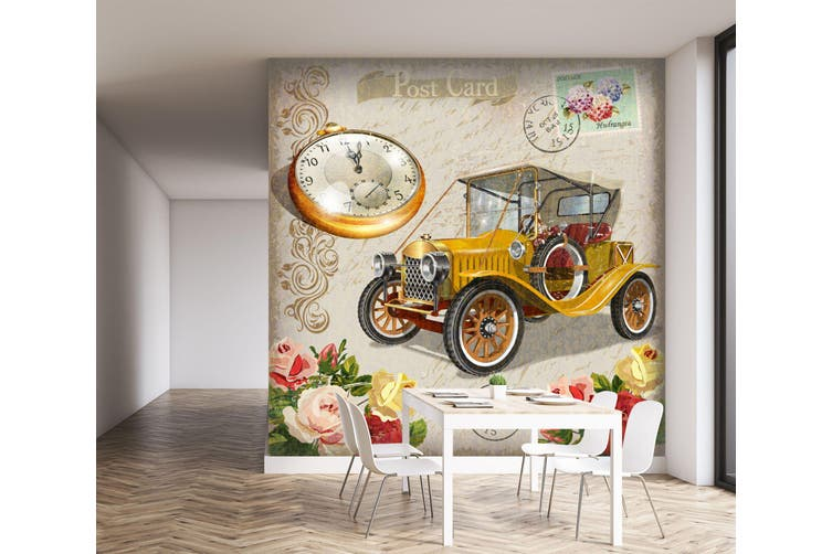 3D Pocket Watch Flower 240 Vehicle Wall Murals Wallpaper Murals Woven paper (need glue), XXXXL 520cm x 290cm (WxH)(205''x114'')