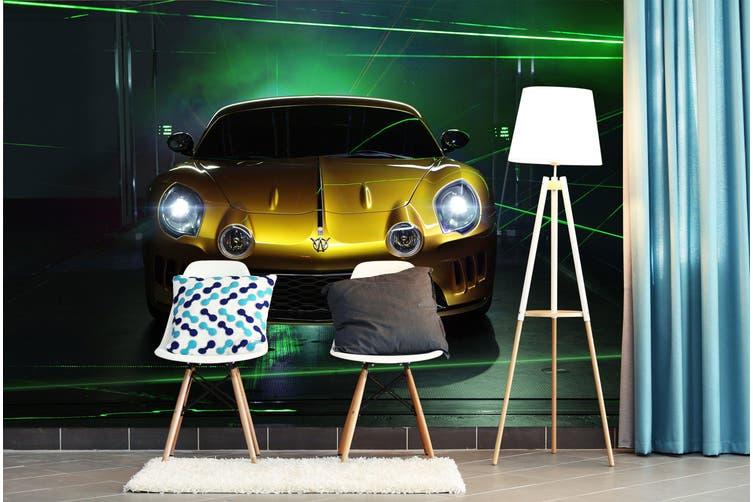 3D Golden Luxury Car 239 Vehicle Wall Murals Wallpaper Murals Woven paper (need glue), XXXXL 520cm x 290cm (WxH)(205''x114'')