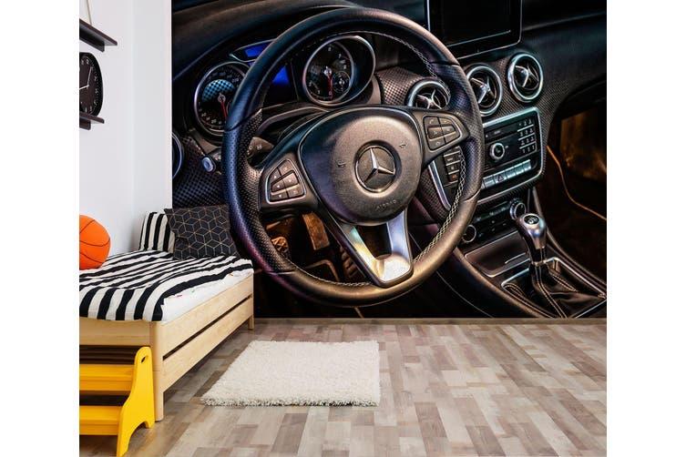 3D Black Mercedes 237 Vehicle Wall Murals Wallpaper Murals Woven paper (need glue), XXXXL 520cm x 290cm (WxH)(205''x114'')