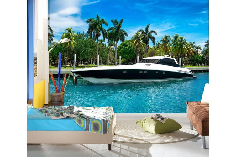 3D Luxury Yachts 236 Vehicle Wall Murals Wallpaper Murals Woven paper (need glue), XXL 312cm x 219cm (WxH)(123''x87'')