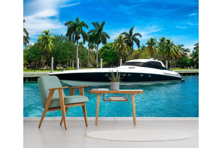 3D Luxury Yachts 236 Vehicle Wall Murals Wallpaper Murals Woven paper (need glue), XXXXL 520cm x 290cm (WxH)(205''x114'')