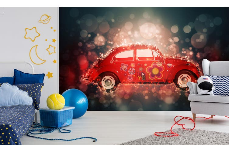 3D Car Flower Pattern 229 Vehicle Wall Murals Wallpaper Murals Self-adhesive Vinyl, XXXXL 520cm x 290cm (WxH)(205''x114'')