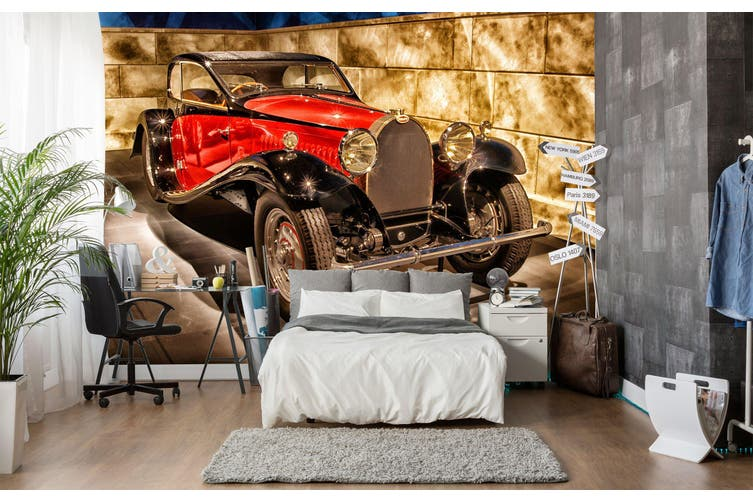 3D Bugatti Luxury 227 Vehicle Wall Murals Wallpaper Murals Woven paper (need glue), XXXXL 520cm x 290cm (WxH)(205''x114'')