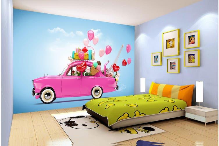 3D Cartoon Car Balloon 225 Vehicle Wall Murals Wallpaper Murals Woven paper (need glue), XXL 312cm x 219cm (WxH)(123''x87'')
