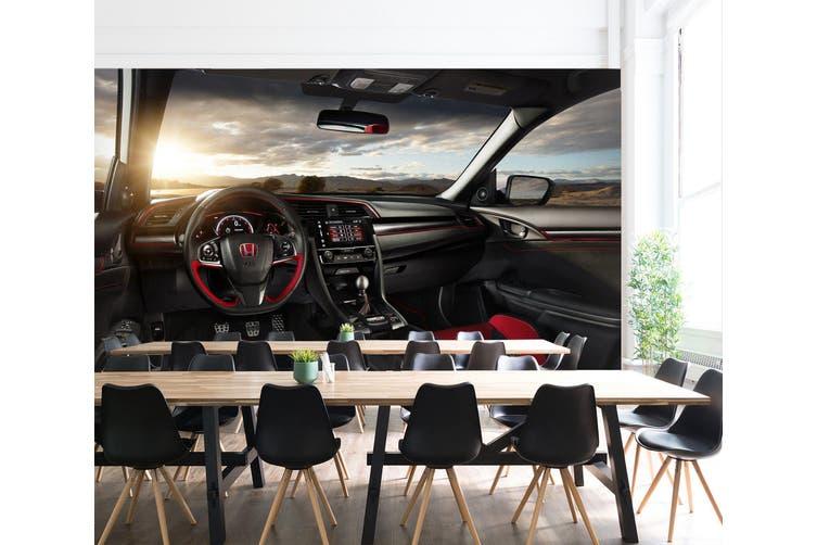 3D Honda Sunset Cloud 224 Vehicle Wall Murals Wallpaper Murals Woven paper (need glue), XL 208cm x 146cm (WxH)(82''x58'')