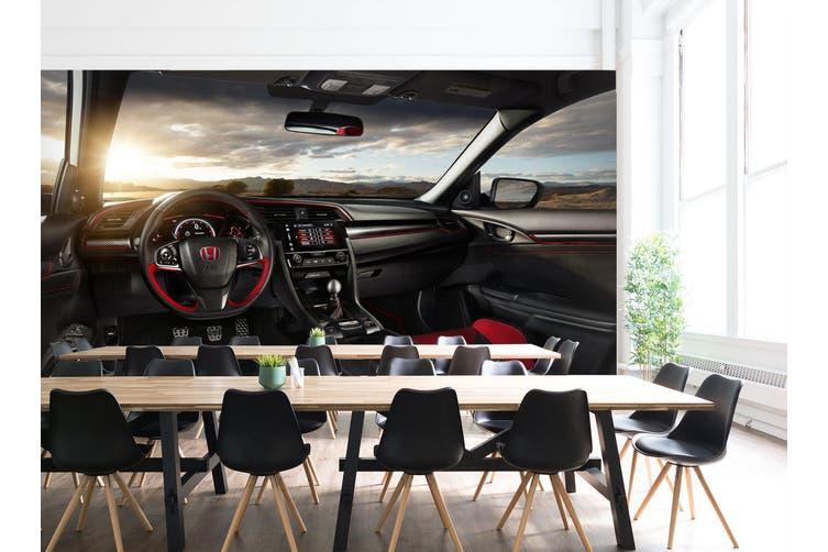 3D Honda Sunset Cloud 224 Vehicle Wall Murals Wallpaper Murals Self-adhesive Vinyl, XXL 312cm x 219cm (WxH)(123''x87'')