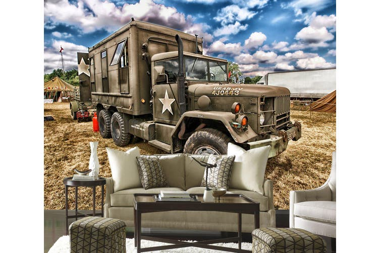 3D Sky Truck Cloud 223 Vehicle Wall Murals Wallpaper Murals Self-adhesive Vinyl, XL 208cm x 146cm (WxH)(82''x58'')