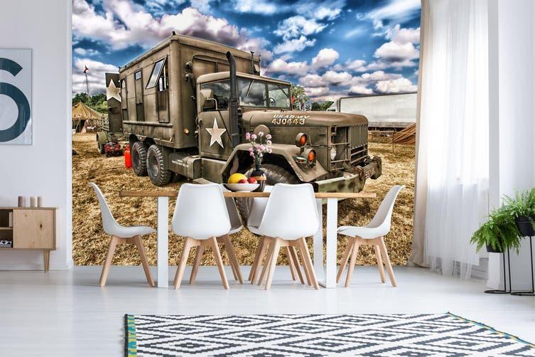 3D Sky Truck Cloud 223 Vehicle Wall Murals Wallpaper Murals Self-adhesive Vinyl, XXXL 416cm x 254cm (WxH)(164''x100'')