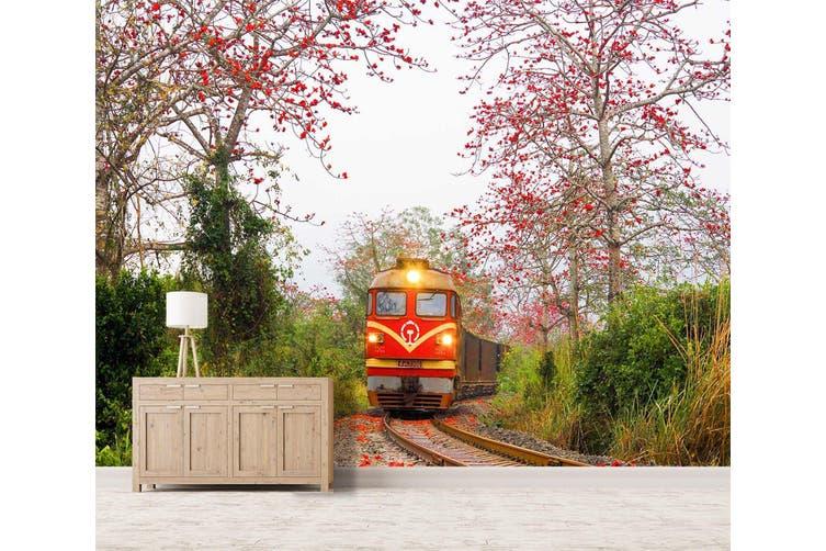 3D Kapok Train 222 Vehicle Wall Murals Wallpaper Murals Self-adhesive Vinyl, XL 208cm x 146cm (WxH)(82''x58'')