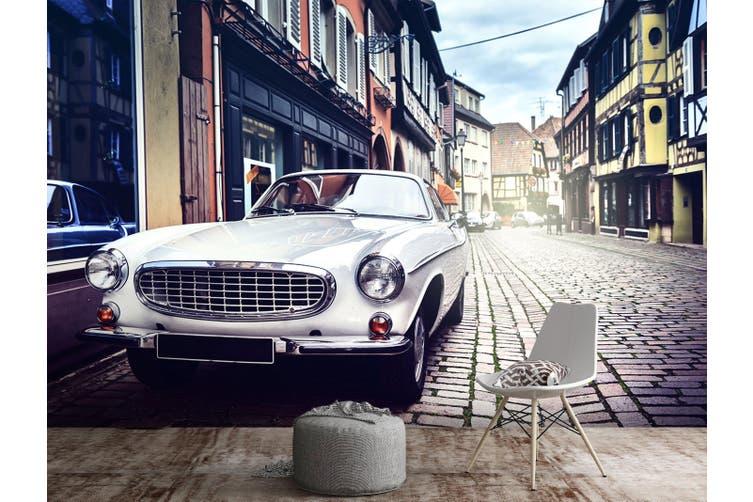 3D Street Classic Car 220 Vehicle Wall Murals Wallpaper Murals Self-adhesive Vinyl, XXL 312cm x 219cm (WxH)(123''x87'')
