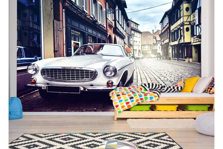 3D Street Classic Car 220 Vehicle Wall Murals Wallpaper Murals Self-adhesive Vinyl, XXXXL 520cm x 290cm (WxH)(205''x114'')
